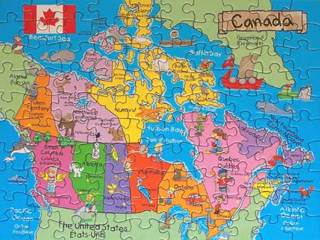Map Of Canada Grade 6.Canadian Map Puzzle